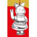 арт.9705 Игрушка новогодняя Стеклянная Петушок