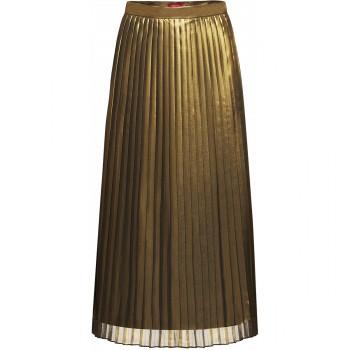 Плиссированная юбка цвет золотой